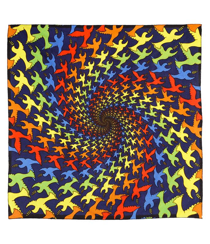 Spiral Dove 3D Bandana