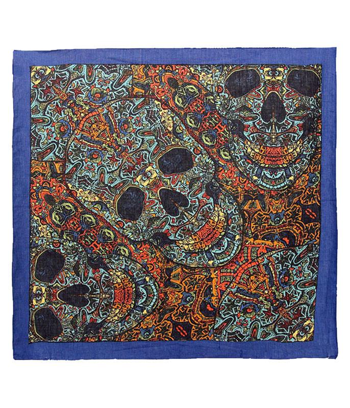 Skull Blue 3D Bandana