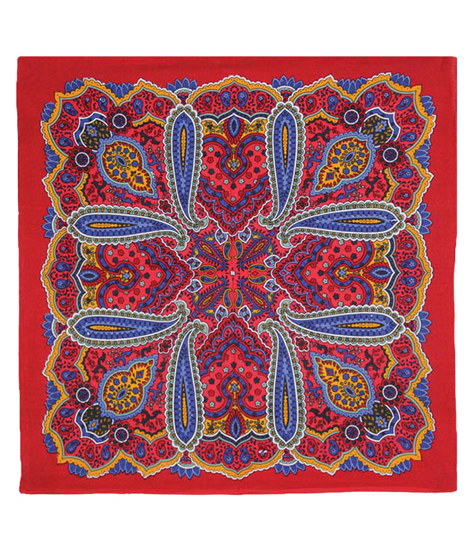 Bright Red Paisley Bandana