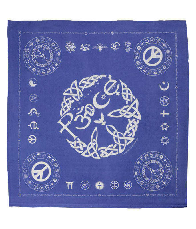 Coexist Peace Blue Bandana
