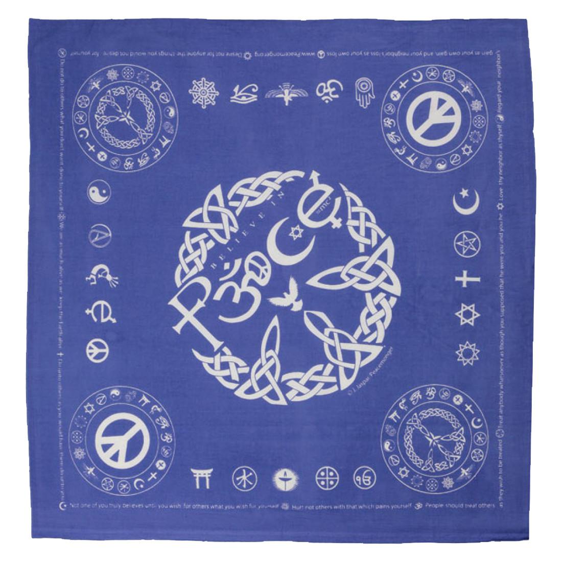 Coexist Peace Blue Bandana