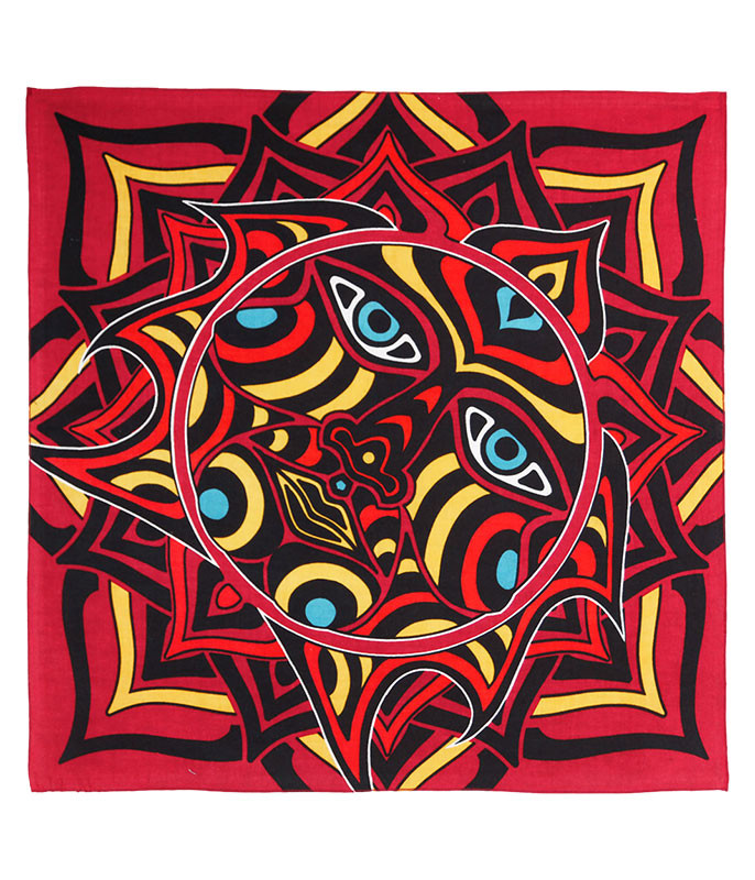 Red Sun Face Bandana
