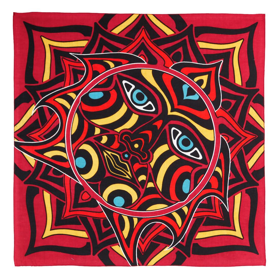 Red Sun Face Bandana