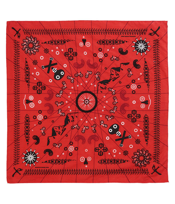 Zest For Life Mtn Bike Red Bandana