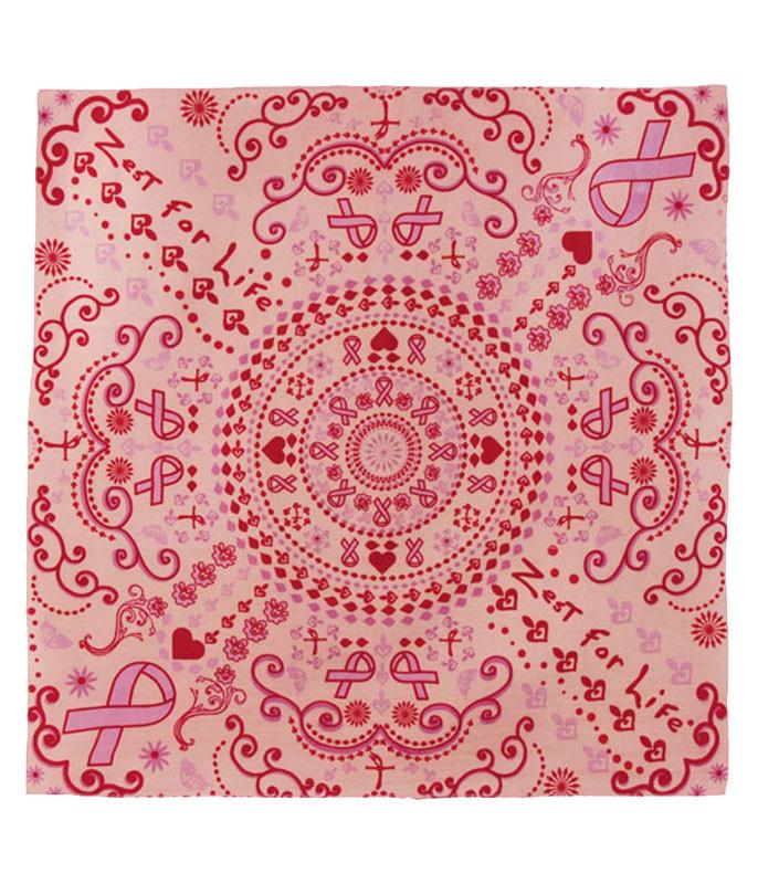 Zest For Life Pink Ribbon Bandana