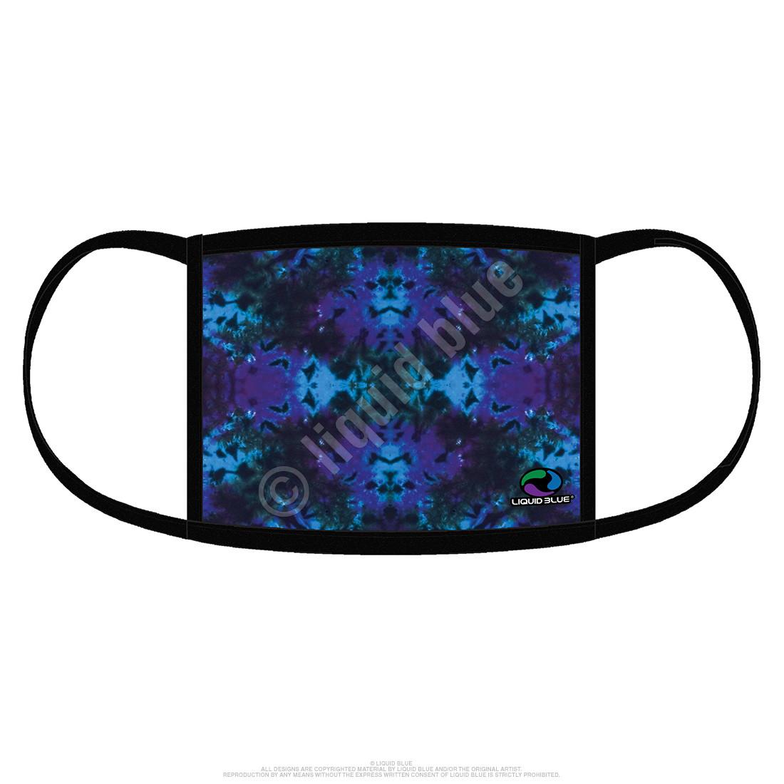 Blue Mandala Tie-Dye Face Covering