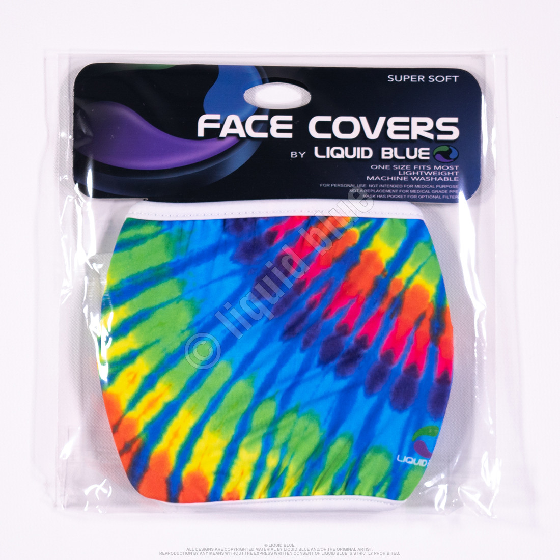 Rainbow Blue Streak Face Covering