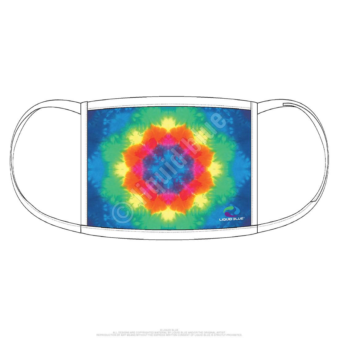 Rainbow Mandala Face Covering