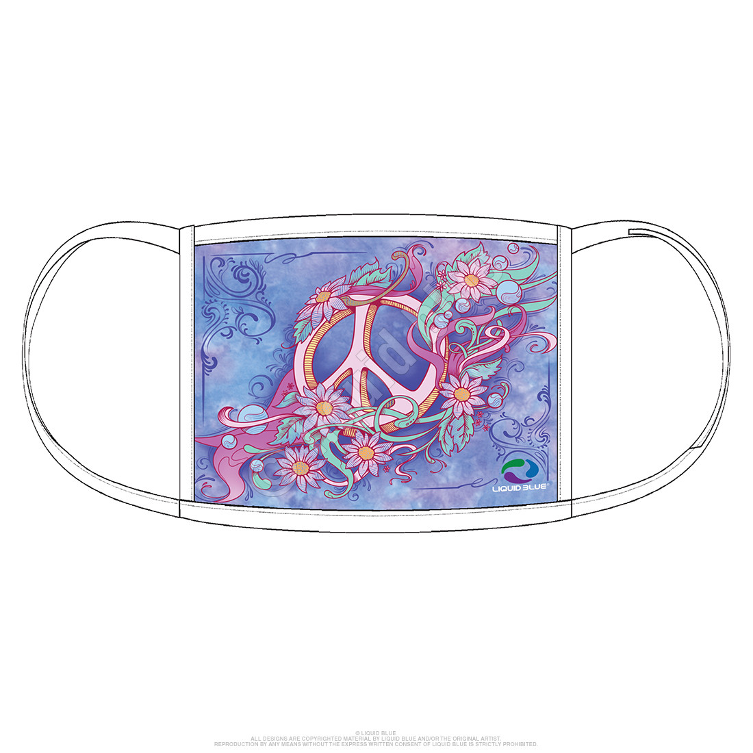 Pastel Peace Face Covering