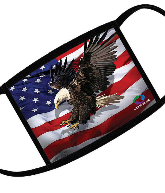 American Eagle Flag Face Covering