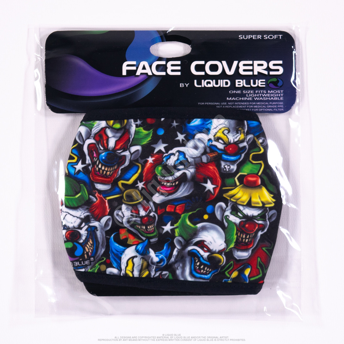 Colored Clowns Face Covering