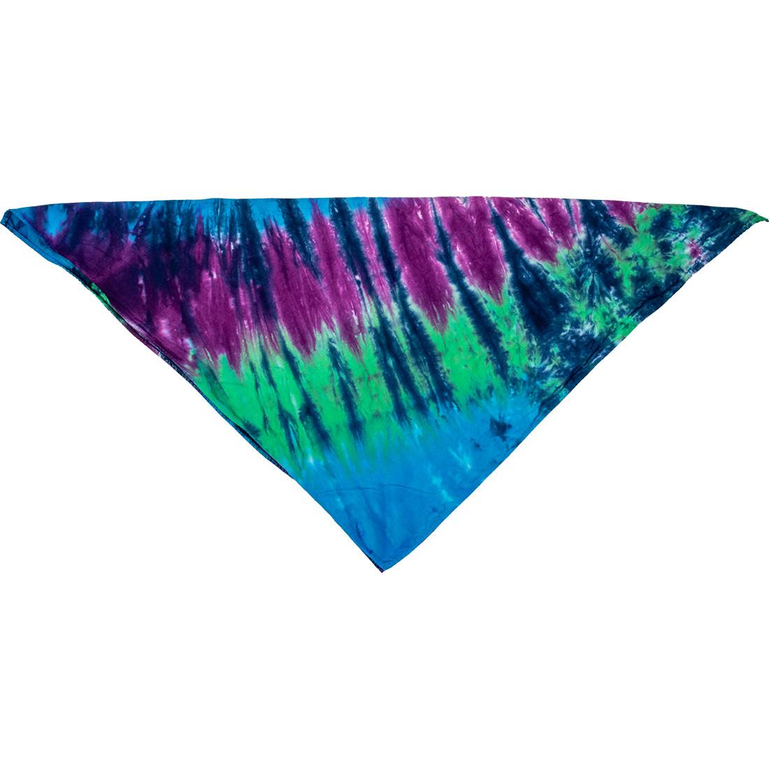 Cool Spiral Streak Tie-Dye Bandana