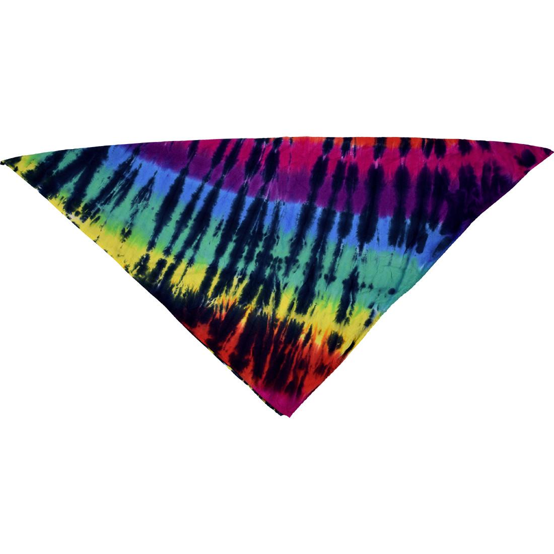 Rainbow Spiral Streak Tie-Dye Bandana