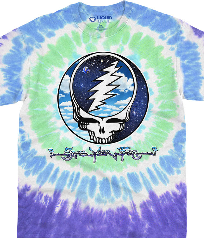 Grateful Dead Sky Space SYF Tie-Dye T-Shirt Tee Liquid Blue