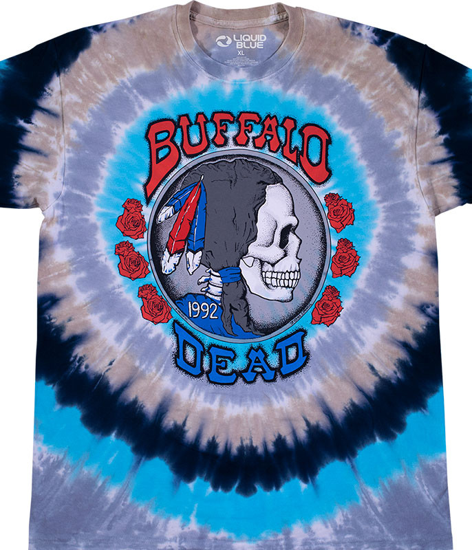 Grateful Dead Buffalo Nickel Tie-Dye T-Shirt Tee Liquid Blue