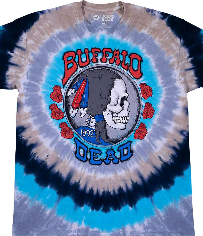 Grateful Dead Buffalo Nickel Tie-Dye T-Shirt Tee Liquid Blue