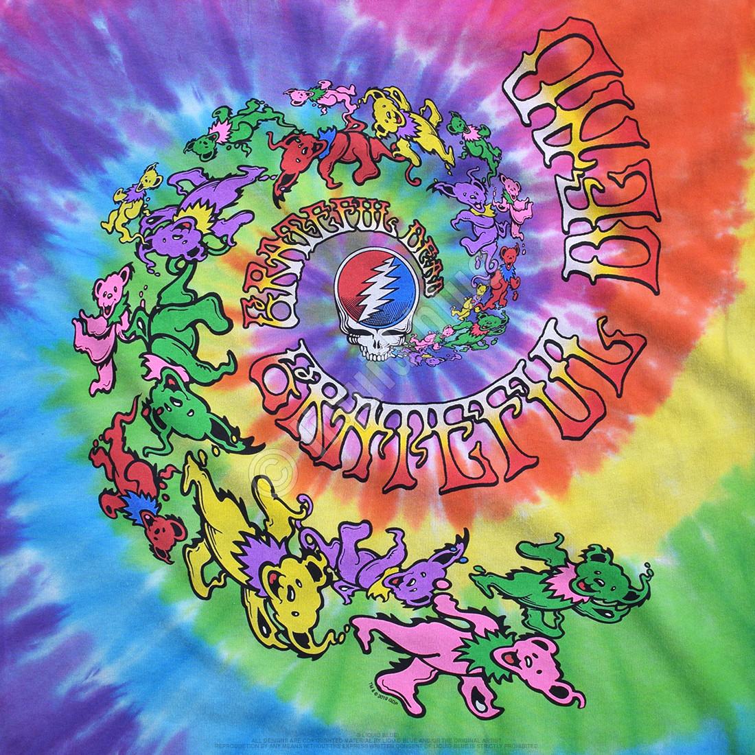 Spiral Trippy Bears Tie-Dye T-Shirt