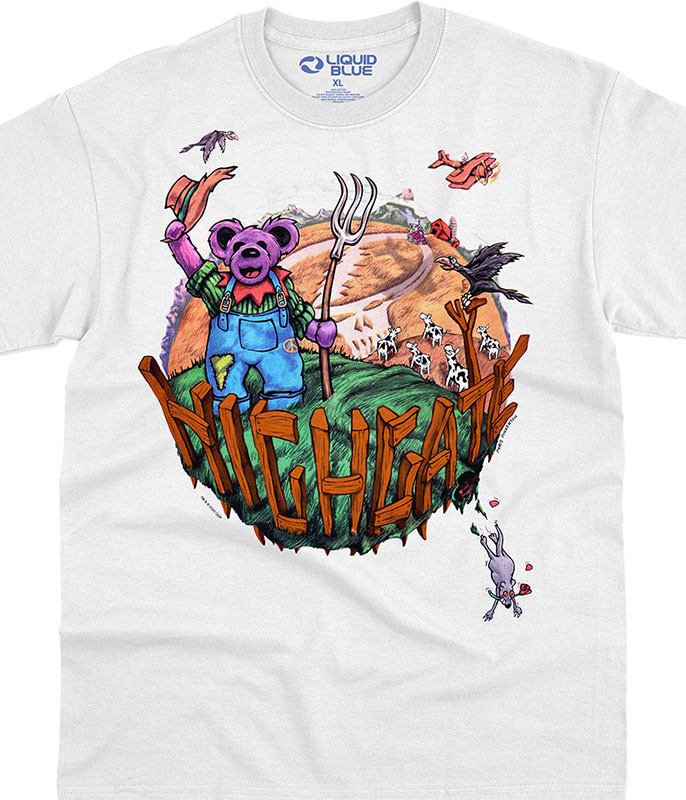 Grateful Dead Highgate White T-Shirt Tee Liquid Blue