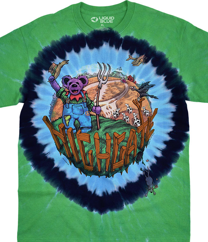 Grateful Dead Highgate Tie-Dye T-Shirt Tee Liquid Blue