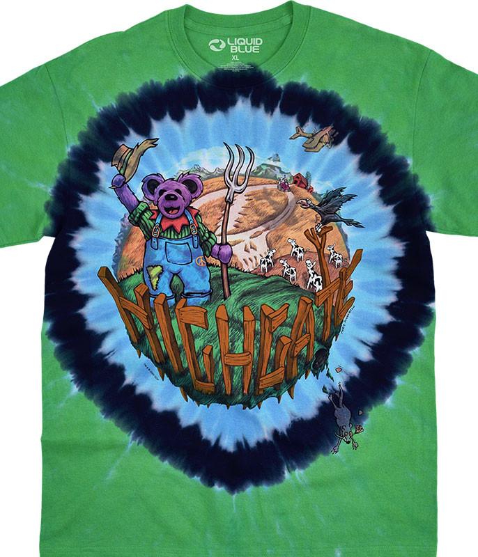 Grateful Dead Highgate Tie-Dye T-Shirt Tee Liquid Blue