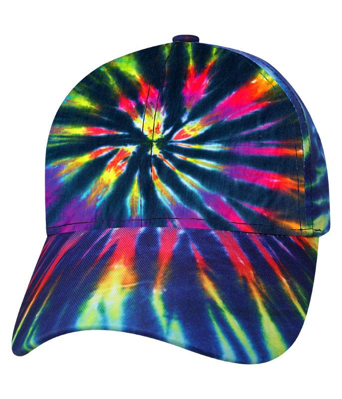 Tie-Dye Rainbow Streak Hat