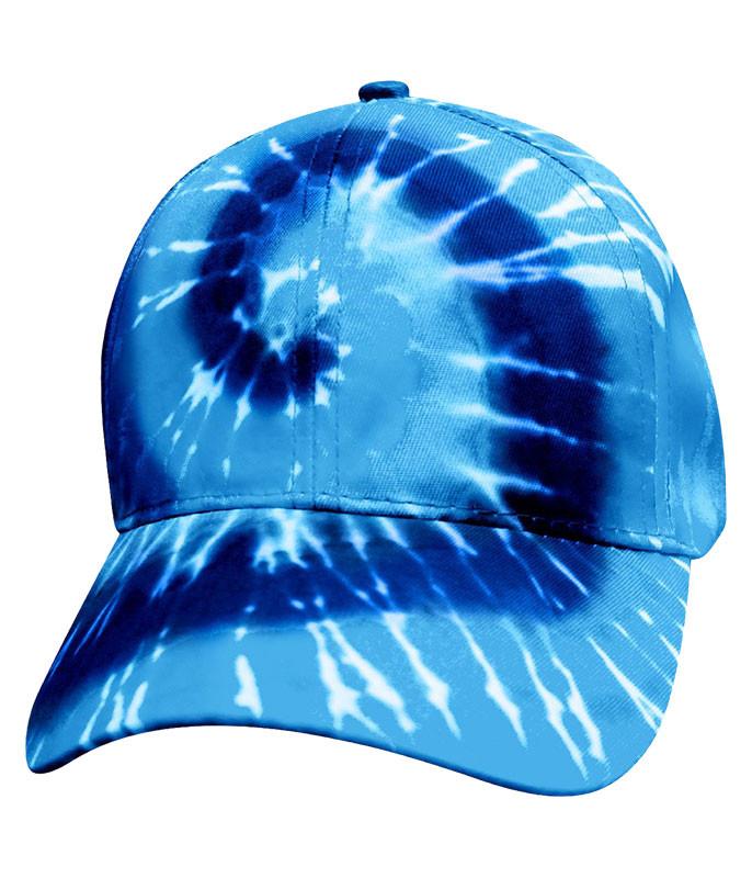 Tie-Dye Blue Spiral Hat