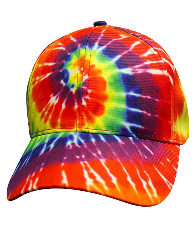 Tie-Dye Rainbow Spiral Hat