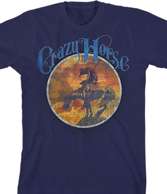 Neil Young Crazy Horse Navy T-Shirt Tee