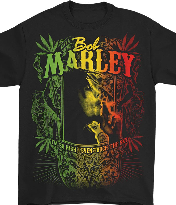 Bob Marley Kaya Now Black T-Shirt Tee