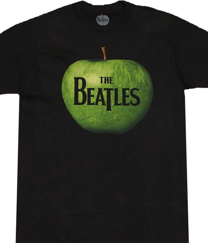Beatles Apple Logo Black T-Shirt Tee