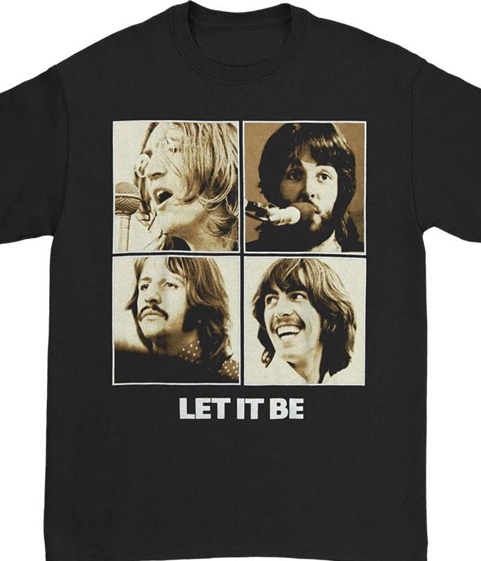 Beatles Let It Be Black T-Shirt