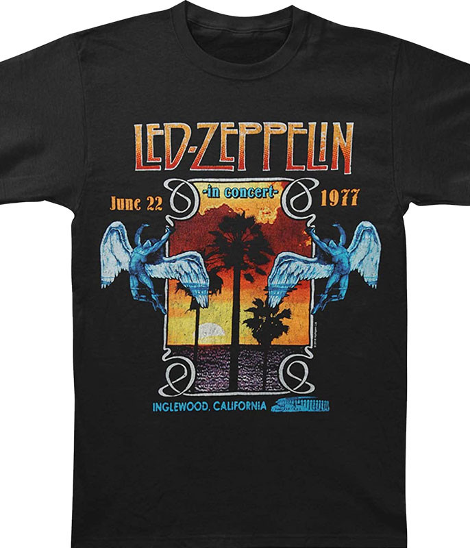 Led Zeppelin Inglewood Black T-Shirt Tee