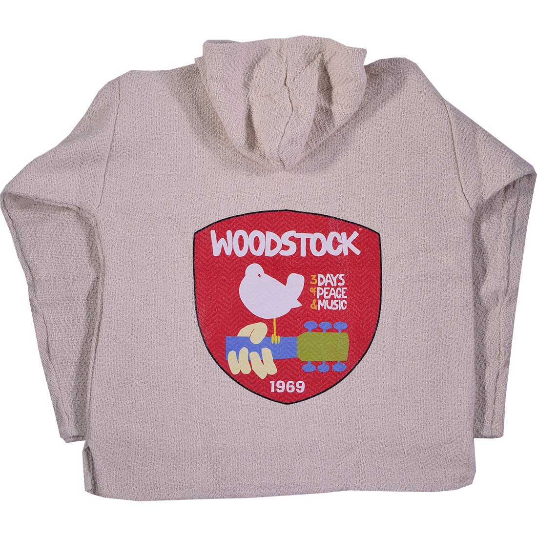 Woodstock Anniversary Natural Baja Hoodie