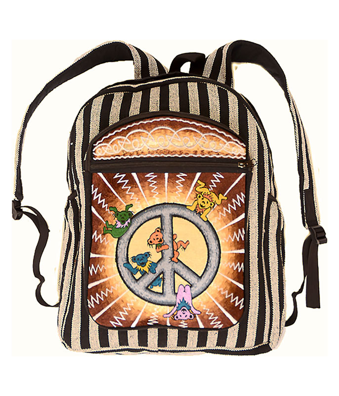 Grateful Dead Bear Hanging Peace Backpack