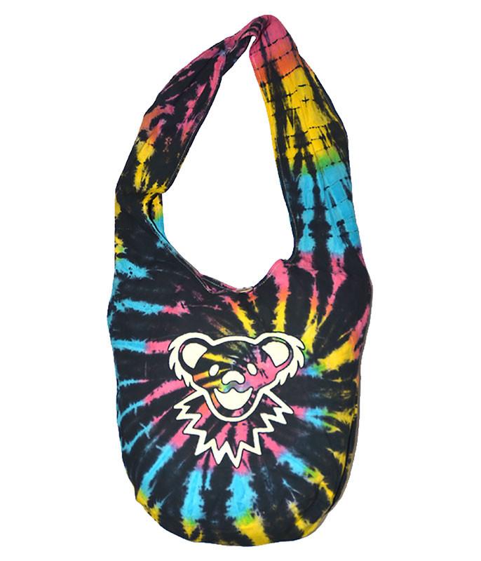 Grateful Dead Bear Tie-Dye Peddler Bag