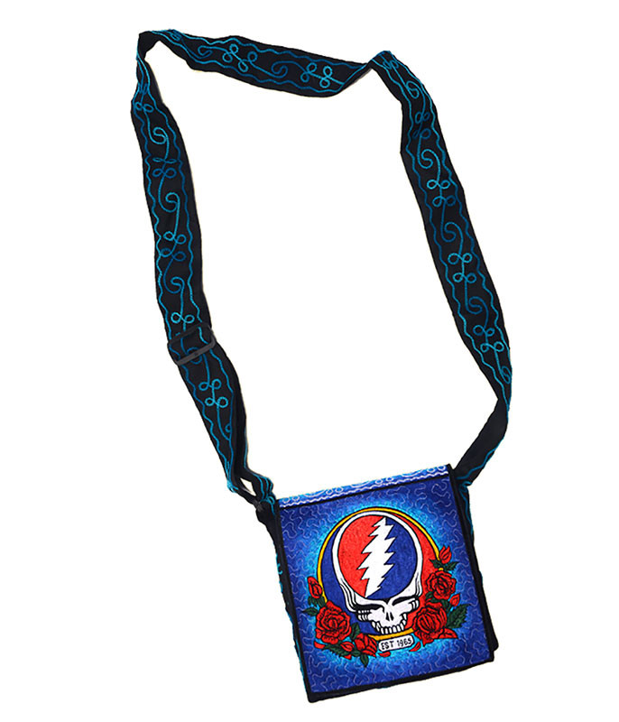 Grateful Dead SYF Roses Hand Embroidered Messenger Bag
