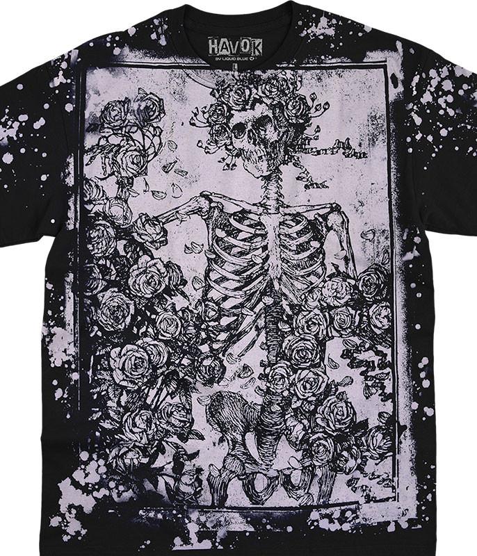 Woodcut Havok Black T-Shirt