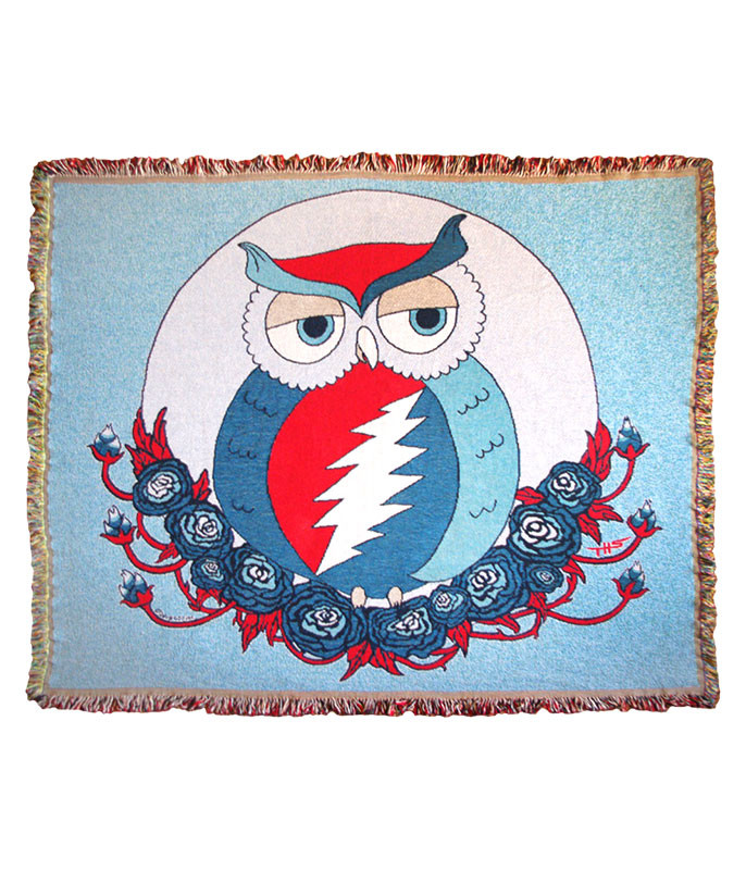 Grateful Dead GD Steal Owl Woven Blanket