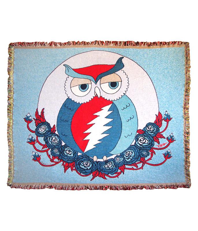 Grateful Dead GD Steal Owl Woven Blanket