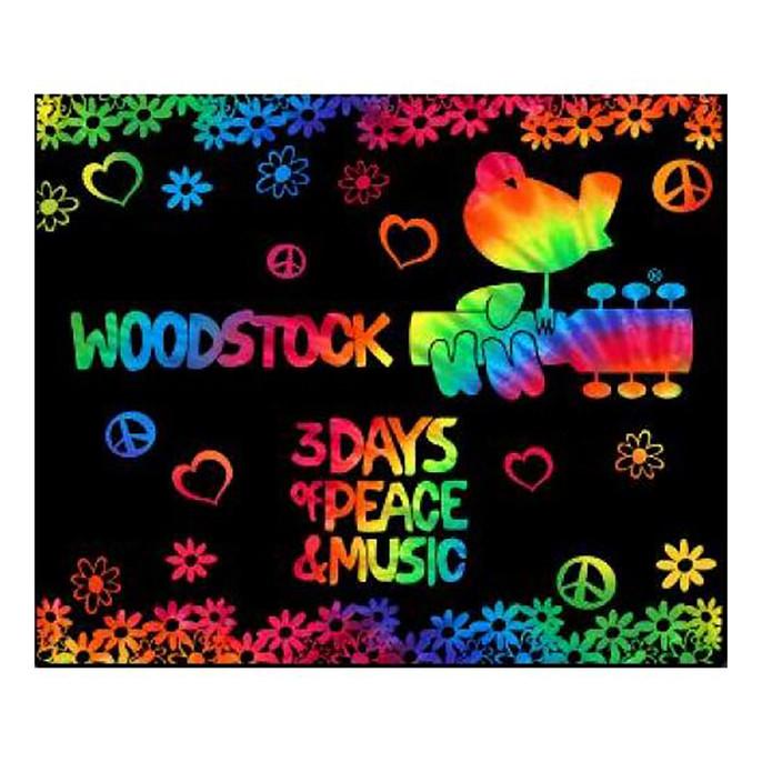 Woodstock 3 Days Tie-Dye Fleece Blanket