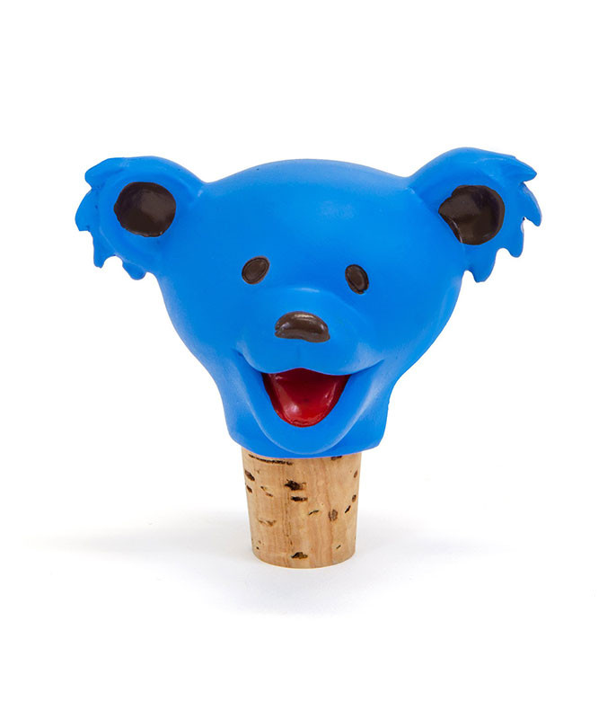 Grateful Dead Dancing Bear Head Blue Bottle Stopper