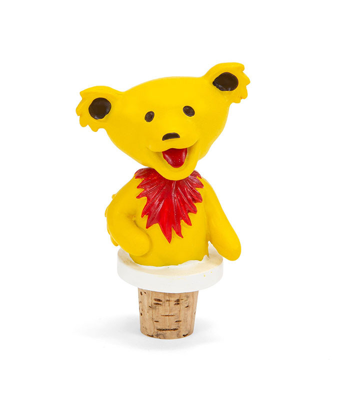Grateful Dead Dancing Bear Yellow Bottle Stopper