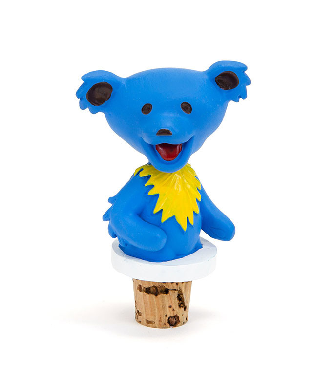 Grateful Dead Dancing Bear Blue Bottle Stopper