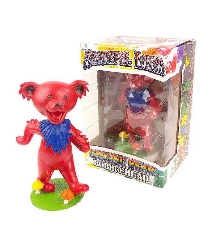 GD Bobblehead Dancing Bear Red