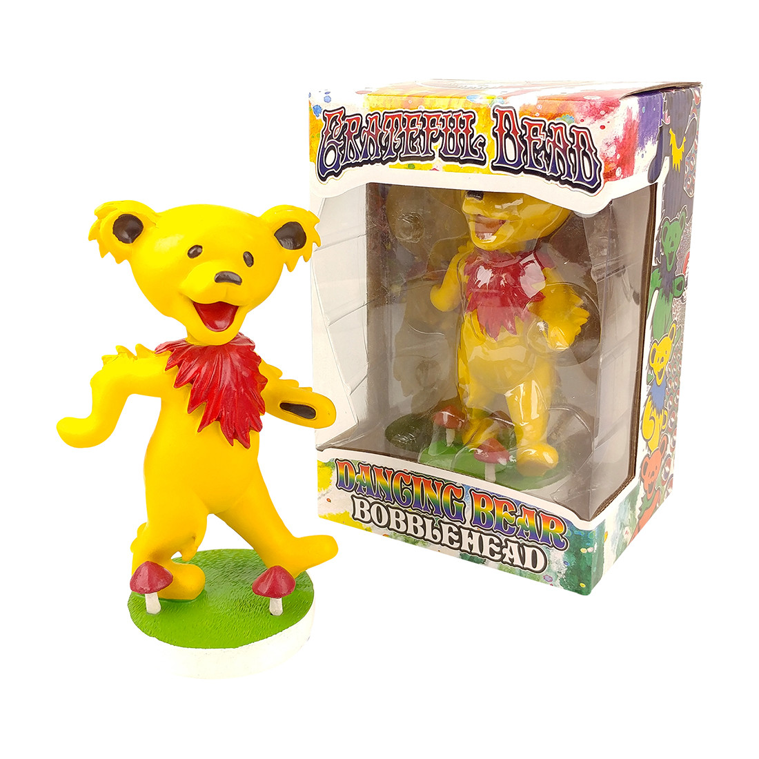 GD Bobblehead Dancing Bear Yellow