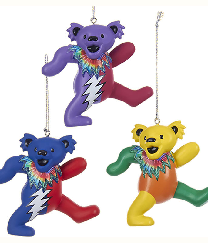 GD Dancing Bear 3pc Ornament Set
