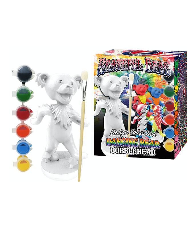 Grateful Dead Dancing Bear Paint Your Own Bobble Head Set
