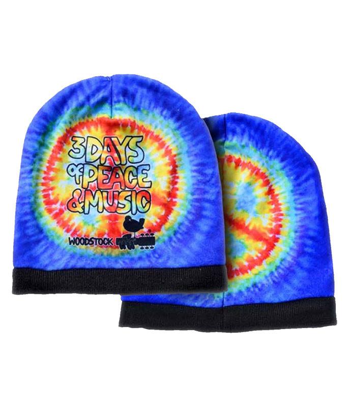 Woodstock Peace Tie-Dye Beanie