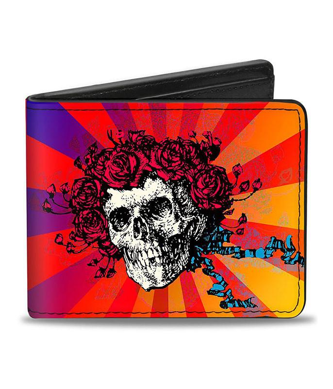 Grateful Dead GD Skull and Roses Ombre Bi-Fold Wallet