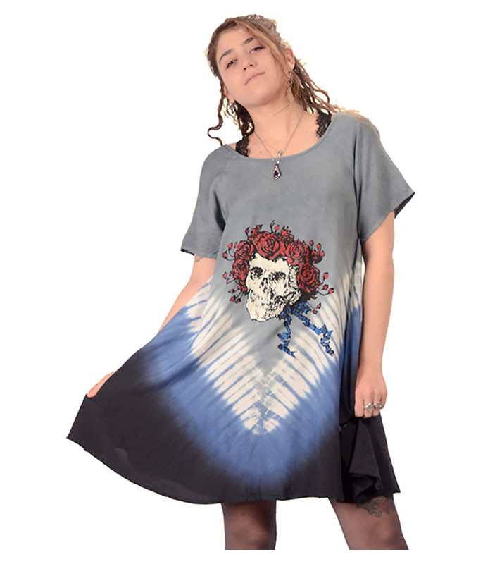 GD Skull and Roses Tee Dress